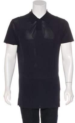 Armani Collezioni Silk Polo Shirt
