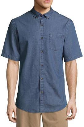 ST. JOHN'S BAY Short Sleeve Geometric Button-Front Shirt-Slim