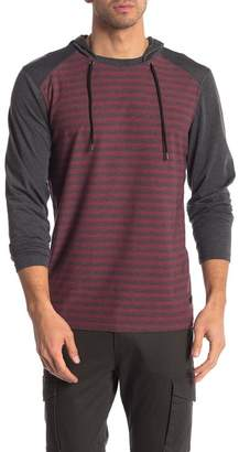 Burnside Stripe Colorblock Raglan Hoodie
