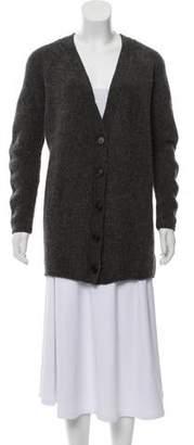 Prada Heavy Knit V-Neck Cardigan