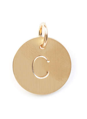 Nashelle C Initial Disc Necklace Charm