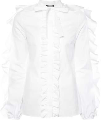 Giambattista Valli long sleeved ruffle shirt