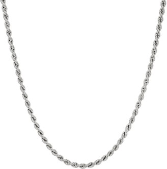 Italian Silver Adjustable Rope Necklace, 15.0g