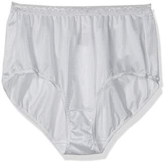 Just My Size Women's Women's 4-pack Nylon Brief Panties
