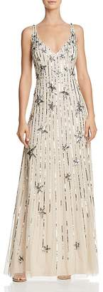 Aidan Mattox Star-Embellished Gown - 100% Exclusive