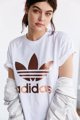 Adidas Originals Rose Gold Double Logo Tee $39 thestylecure.com