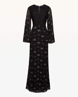 Juicy Couture Lace Bodice Pleated Maxi Dress