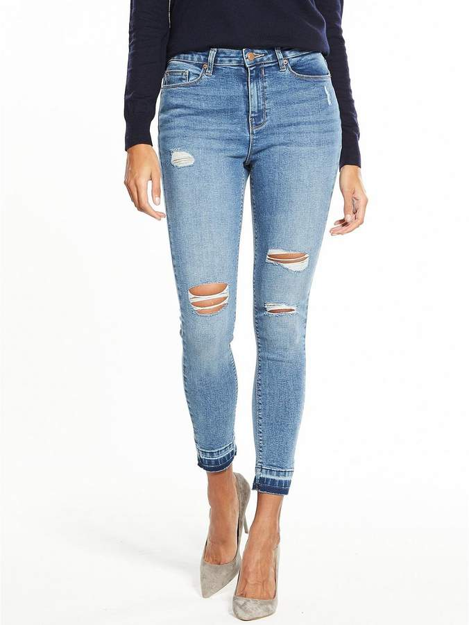 Ella High Waisted Ripped Skinny Jean