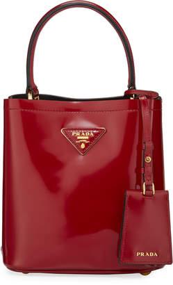 Prada Patent Leather Small Bucket Bag