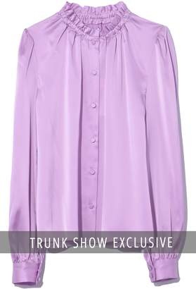 Co Cinched Neck Blouse in Orchid TS