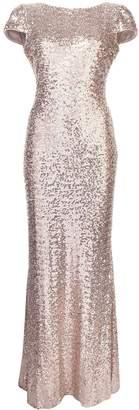 Badgley Mischka sequin embellished gown