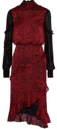 Saloni Bead-embellished Silk-blend Fil Coupe And Georgette Dress