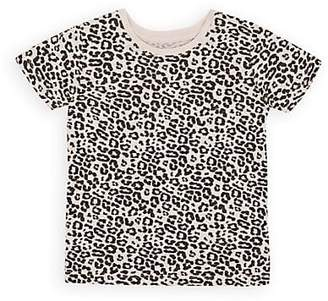 ATM Anthony Thomas Melillo Kids' Leopard-Print Cotton T-Shirt - Cream
