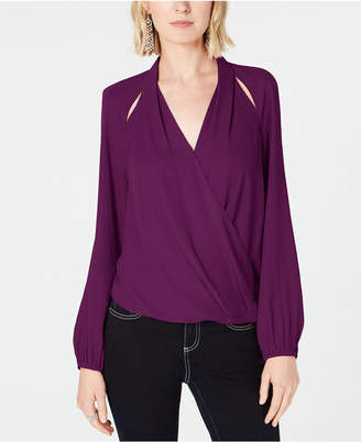 INC International Concepts I.n.c Cutout Surplice Top, Created for Macy's