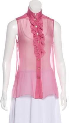 Chanel Silk Sleeveless Top w/ Tags