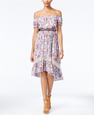 American Rag Printed Off-The-Shoulder Peasant Dress, Only at Macy's $69.50 thestylecure.com