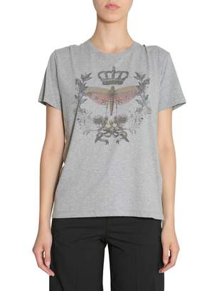 RED Valentino Dragonfly And Crown Printed T-shirt