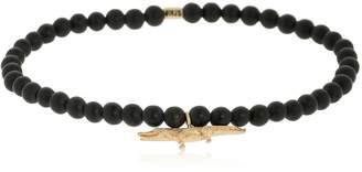 Luis Morais Yellow Gold Croc Beaded Bracelet