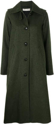 Veronique Branquinho long rear pleat coat