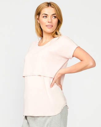 Maddie Linen Nursing Top
