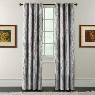 Celestina Arlee Blackout 1-Panel Wave Jacquard Window Curtain