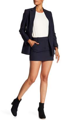Theory Wool Blend Trouser Mini Skirt