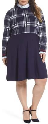 1901 Plaid Bodice Sweater Dress