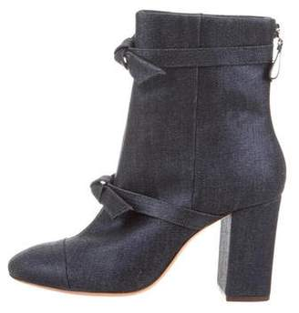 Alexandre Birman Denim High-Heel Boots w/ Tags