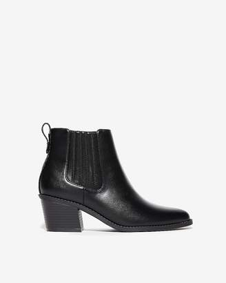 Express Low Gore Heeled Booties