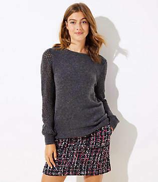 LOFT Petite Open Stitched Sleeve Sweater