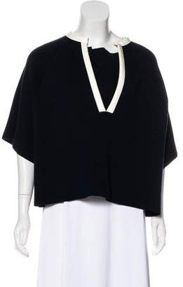 Marni Leather-Trimmed Knit Tunic