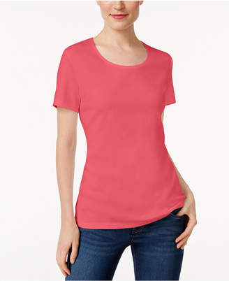 Karen Scott Scoop-Neck T-Shirt, Only at Macy's $9.98 thestylecure.com