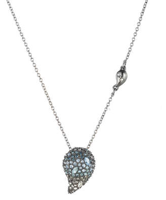 Alexis Bittar Crystal Encrusted Ombre Paisley Pendant Necklace