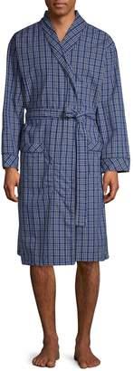 Black Brown 1826 Plaid Shawl Colllared Robe
