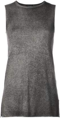 Avant Toi cashmere sleeveless fitted sweater