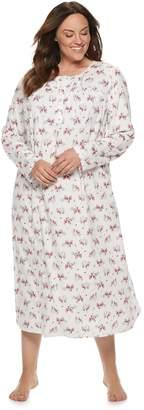 Croft & Barrow Plus Size Printed Crewneck Nightgown