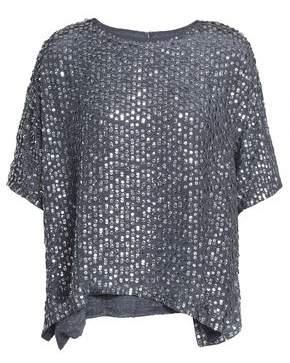 Velvet by Graham & Spencer Sequined Woven Top
