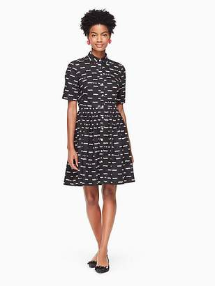 Kate Spade Hot rod poplin dress