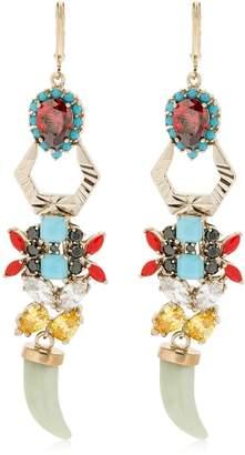Iosselliani Jade Horns Earrings
