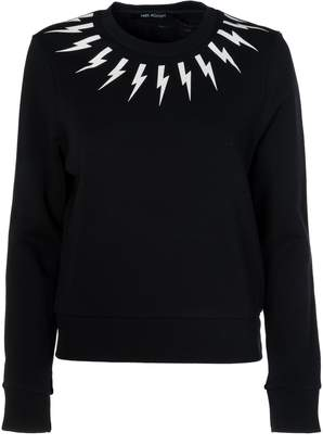 Neil Barrett Lightning Bolt Printed Sweatshirt
