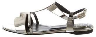 Roger Vivier Metallic Flat Sandals w/ Tags