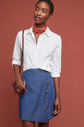 Seen Worn Kept Denim Wrap Mini Skirt