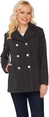 Joan Rivers Classics Collection Joan Rivers Classic Double Breasted Peacoat
