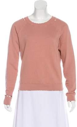 Amo Distressed Knit Sweatshirt