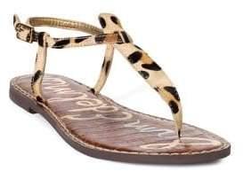 Sam Edelman Gigi Leopard-Print T-Strap Sandals