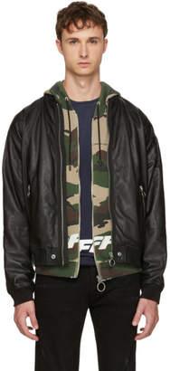 Diesel Black Leather L-Pins Jacket