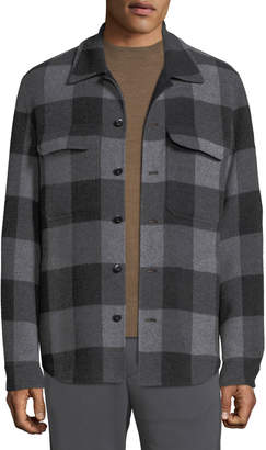 Vince Men's Splittable Plaid Overshirt