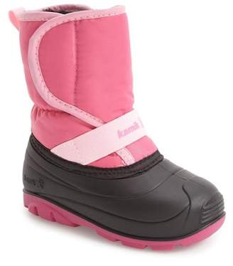 Kamik Pika Waterproof Faux Fur Lined Snow Boot (Toddler)