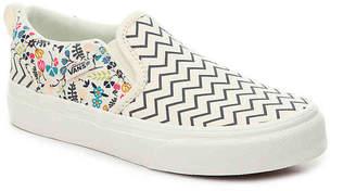 Vans Asher Toddler & Youth Slip-On Sneaker - Girl's