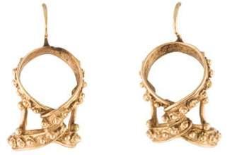 14K Knot Drop Earrings